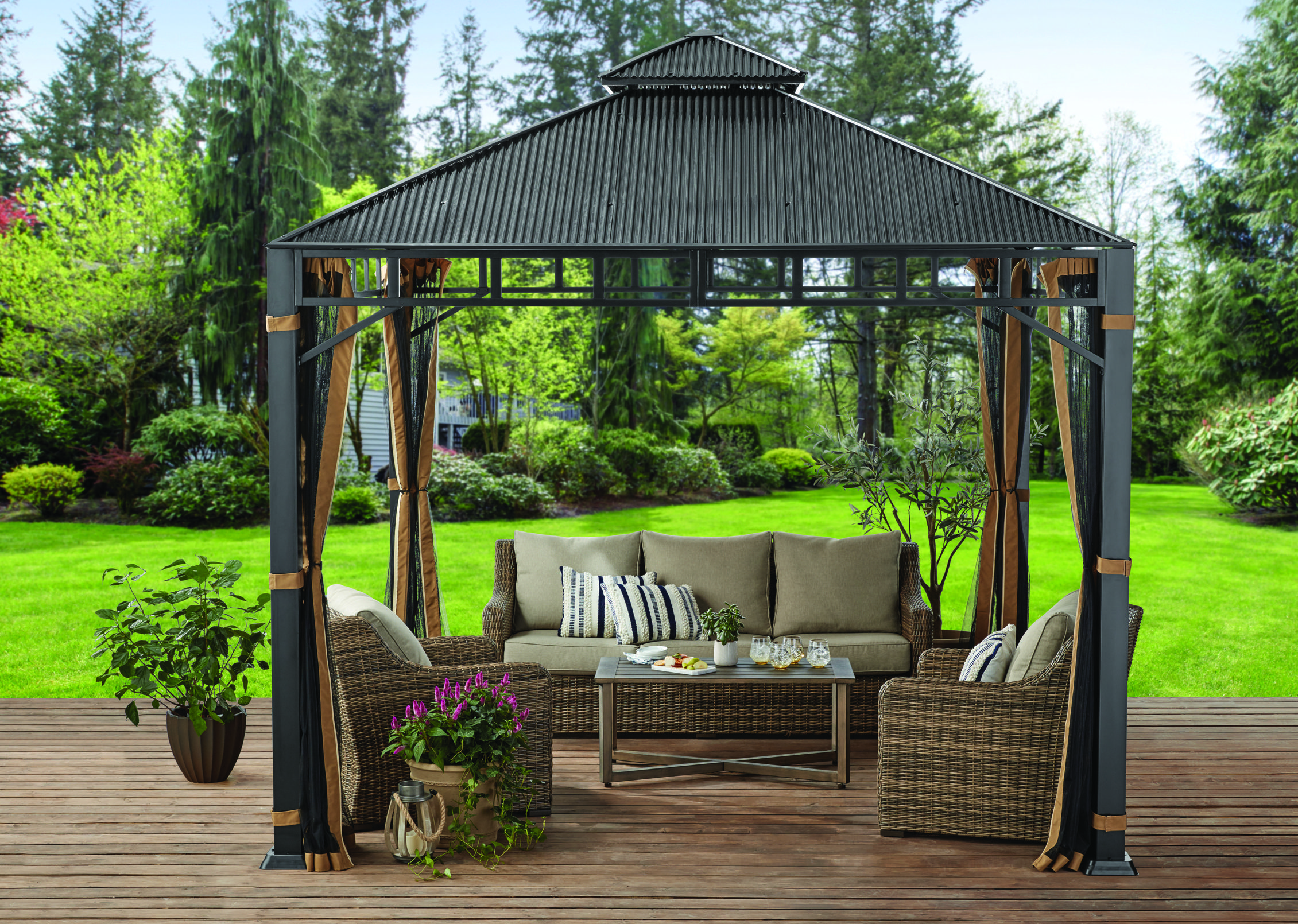 45508b90ca7ac75c6d42fb37e7eb464d - Better Homes And Gardens Sullivan Ridge Hardtop Gazebo With Netting