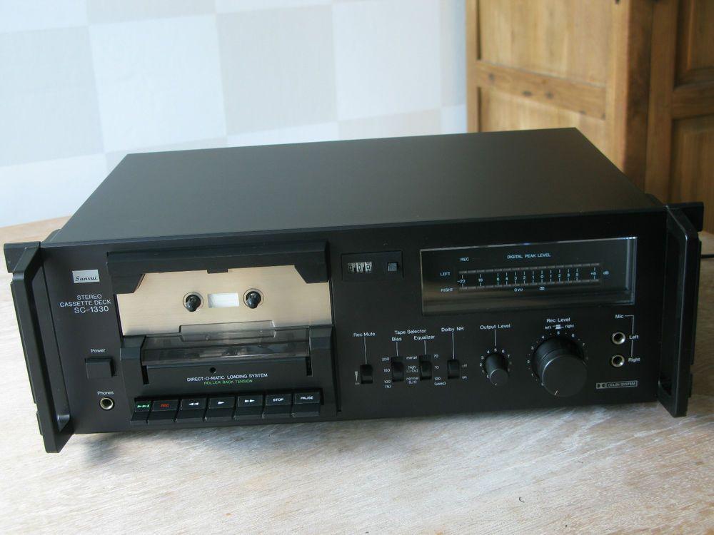 Vintage 1980 SANSUI Cassette Player/Recorder SC-1330