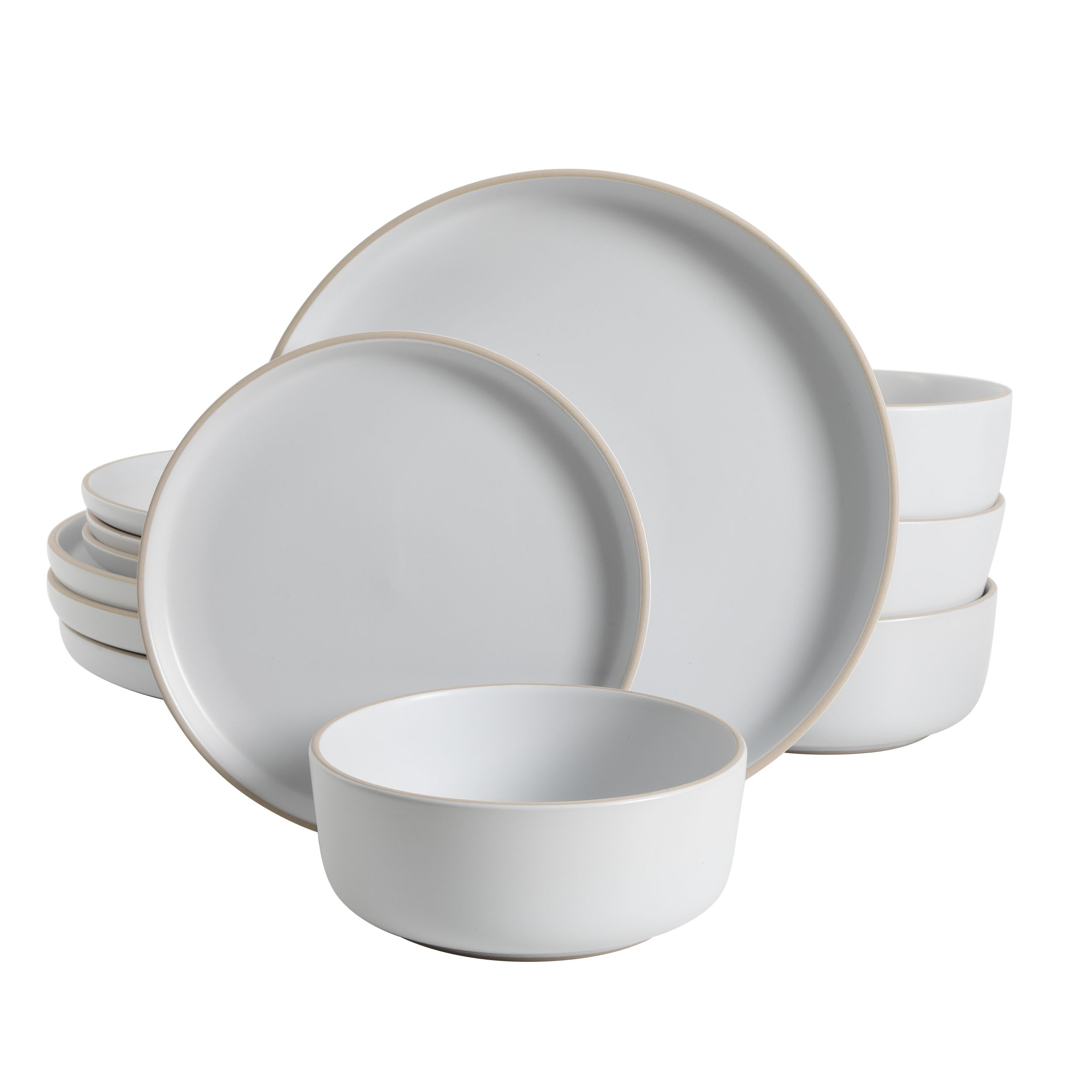 Gourmet Art 12 Piece Beaded Chateau Melamine Dinnerware Set White Service For 4 Includes Dinner Plates Salad Plates And Bowls Walmart Com Melamine Dinnerware Sets Farmhouse Dinnerware Melamine Dinnerware