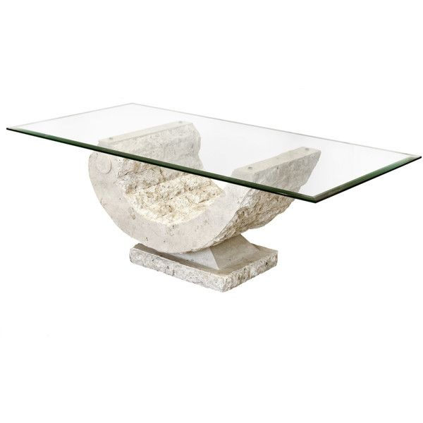 Coral Sea Mactan Stone Coffee Table 255 Liked On Polyvore Featuring Home Furniture Tables Accent Tables Stone T Stone Coffee Table Coffee Table Mactan