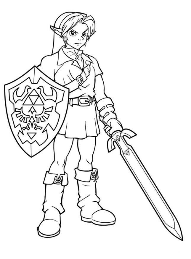 Awesome Link Zelda Coloring Pages Em 2020 Com Imagens Imprimir