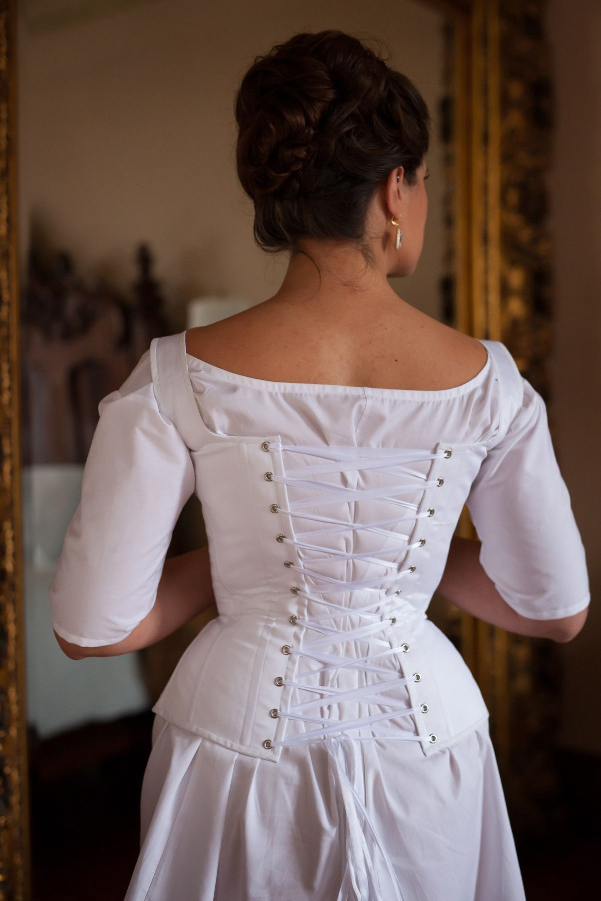 6bff5b38da9 Redthreaded Regency long stays are based on historical extant examples from  Jane Austen s time. These