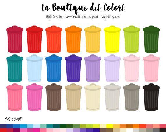 50 Rainbow Trash Can Clip Art Digital Illustrations Png Etsy Clip Art Rainbow Clipart Digital Illustration