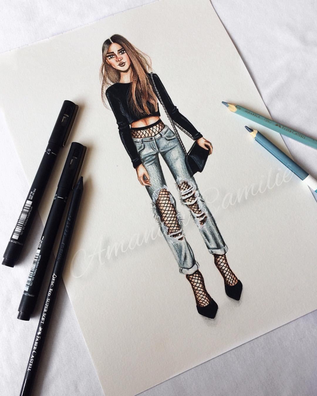 Tenho um amor tão grande por jeans • • • • #fashion #fashionart #fashionillustration #fashionillustrator #fashiondesigner #design…