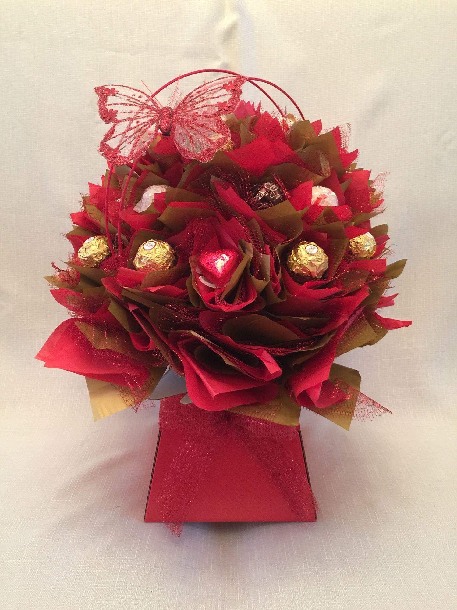 Valentines Chocolate Bouquet Box Of Candies Ferrero Pinterest