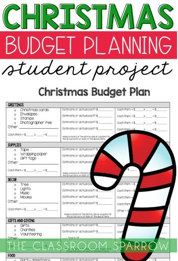 christmas math project personal finance budgeting and holiday