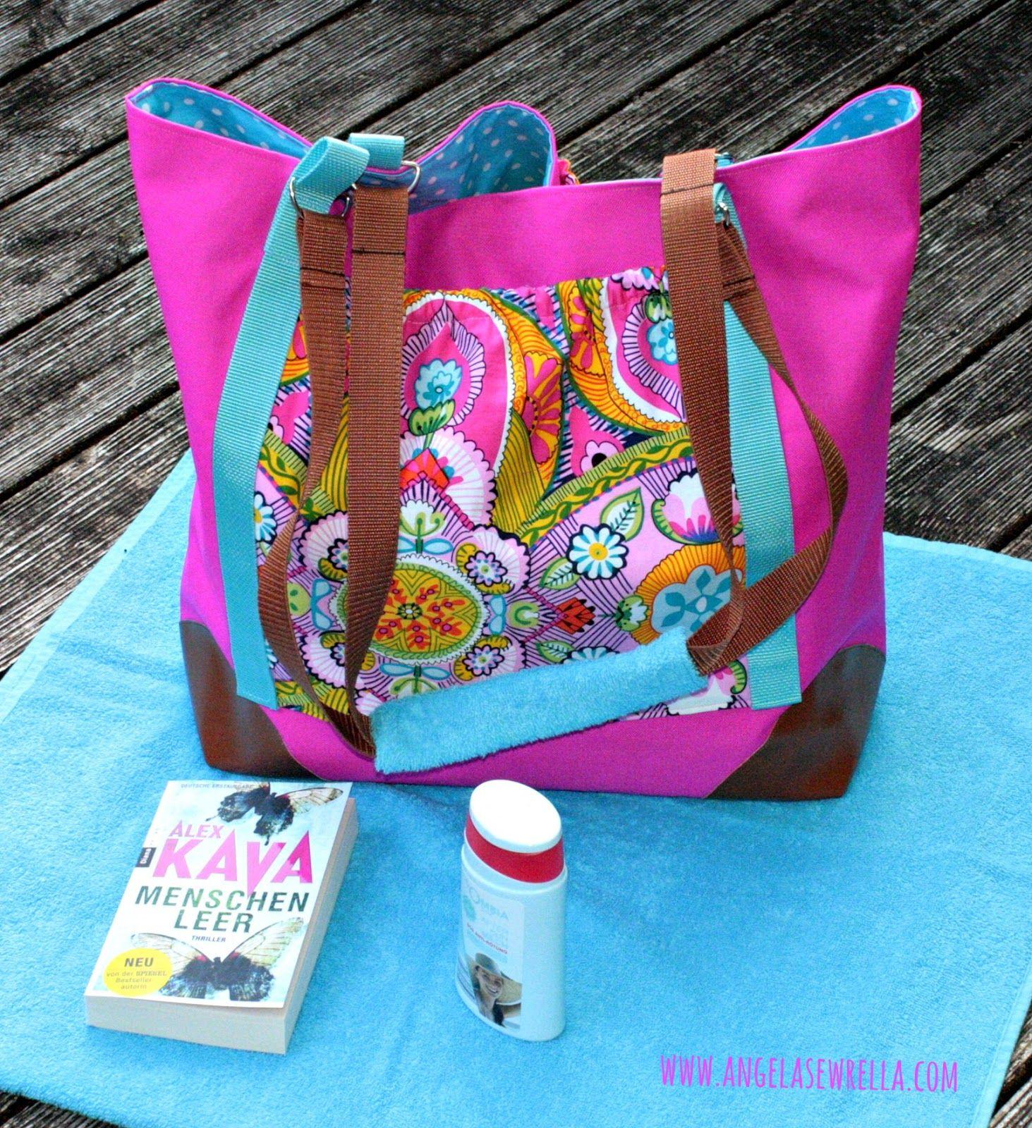 selbstgenähte Strandtasche | Taschen | Pinterest | Strandtaschen ...