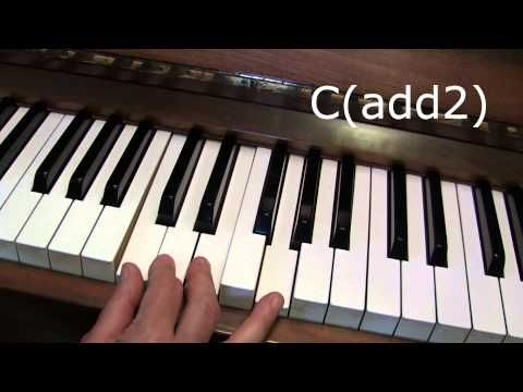 How To Make Suspended Chords Such As Csus4 On Piano Youtube