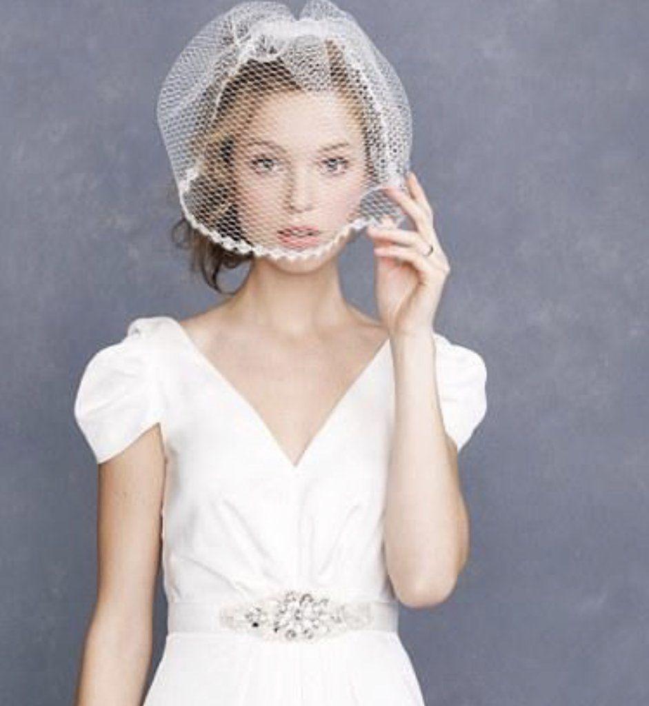 J Crew Eyelash Lace Bridal Veil Ivory 10380 Veil Hairstyles