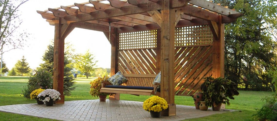 Pergola With Swing In Johnstown, Ohio   Landscaping Outdoor Kitchens Outdoor  Living In Columbus Ohio