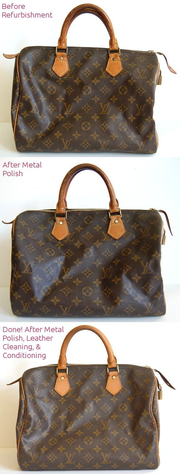 How To Lighten Louis Vuitton Leather Make Metal Shiny Clean Refurbish Newer Look