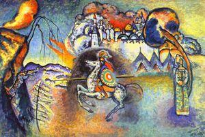 San Jorge y el dragón - (Wassily Kandinsky)
