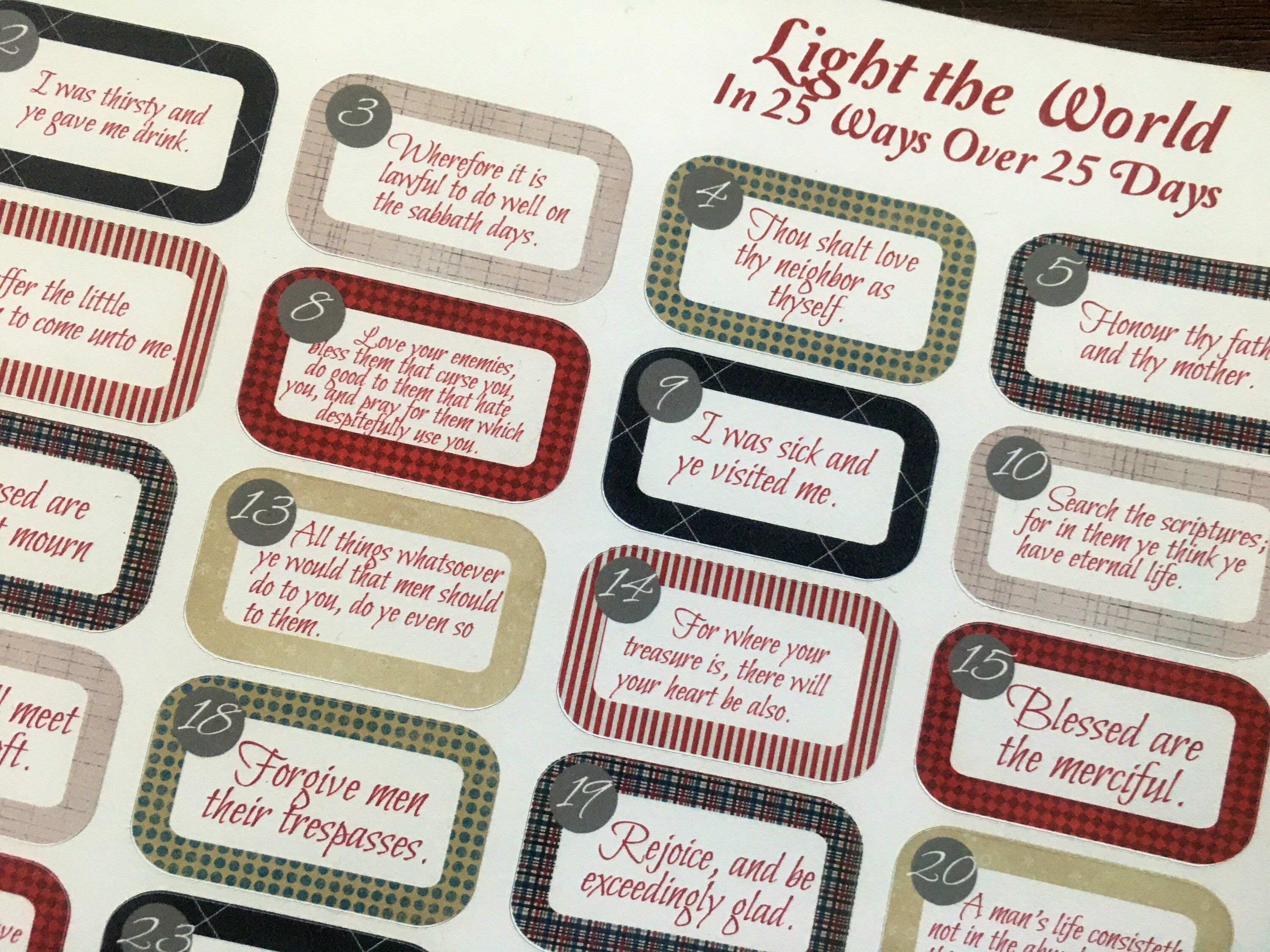 Excited to share the latest addition to my etsy shop light the world planner stickers made to fit the mormon mom planner mom on the go planner