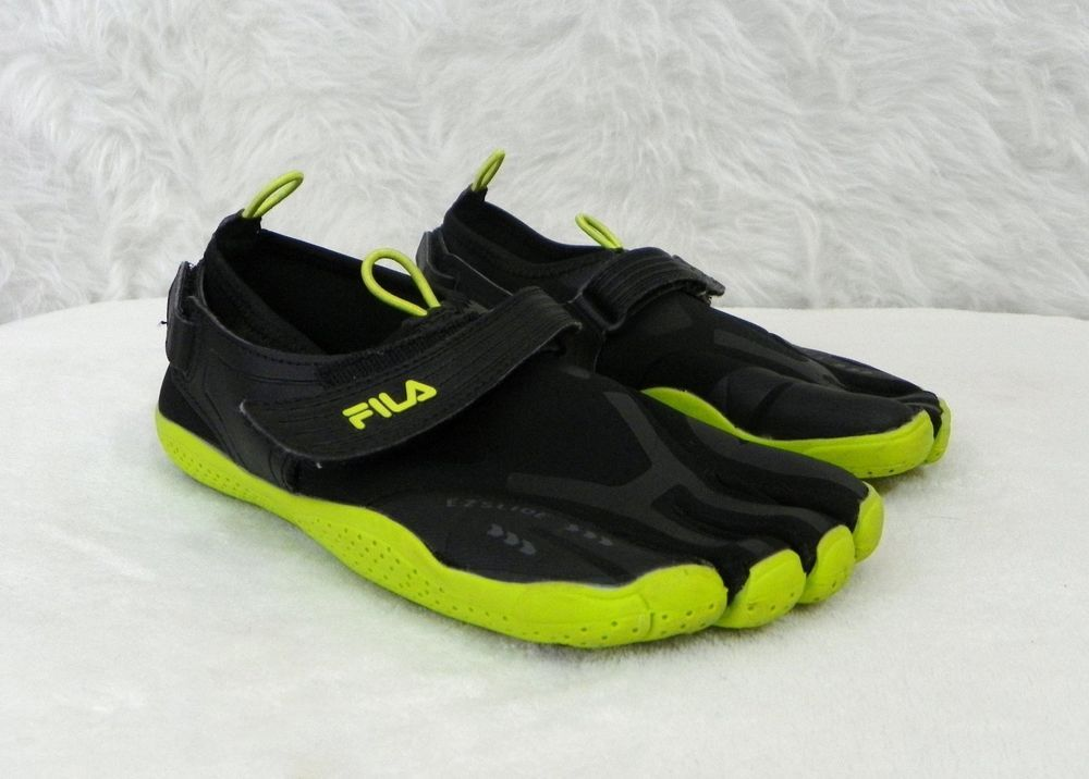 7617112af9 Boys FILA Black Lime Skele-Toes EZ Slide Slip On Running Training Shoes  Size 5 #FILA #SkeleToes