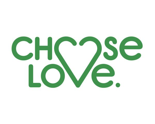 Choose Love Logo. Firm: One Man's Studio, Boston, MA; www.onemansstudio.com