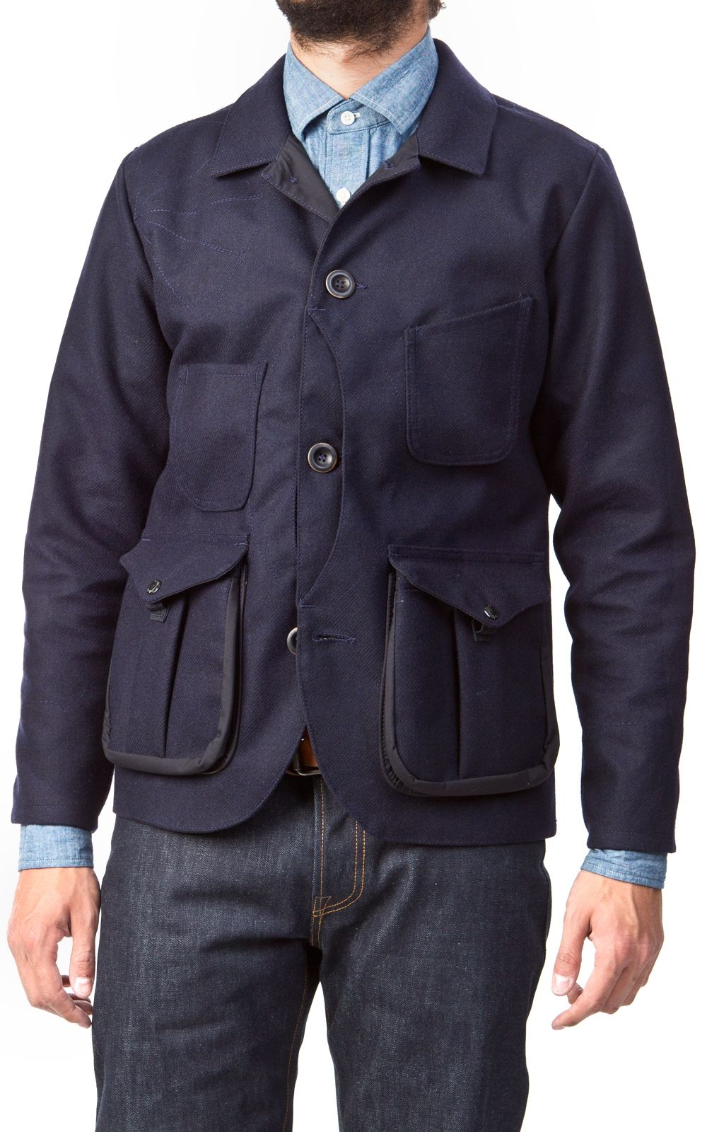 6b0a58ebdee8d Cultizm.com - Guide Work Jacket Bonded Wool Navy   Olive Filson Guide Work  Jacket Bonded Wool Navy   Olive 104134171