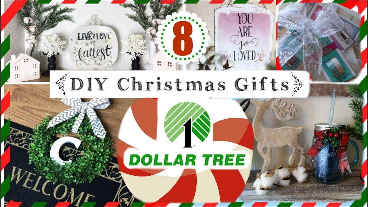 8 DOLLAR TREE DIY CHRISTMAS GIFT IDEAS | Cheap Christmas Gift Ideas ...