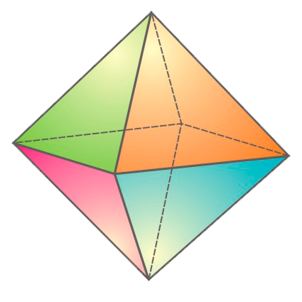 Картинка с октаэдром