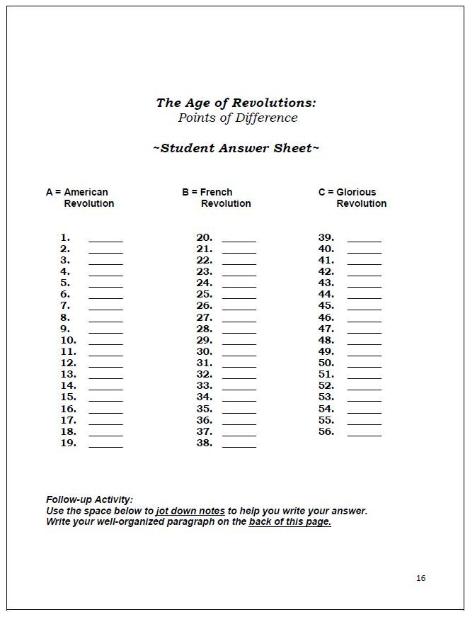 age of revolutions review worksheets glorious french american revolutions revolutions. Black Bedroom Furniture Sets. Home Design Ideas