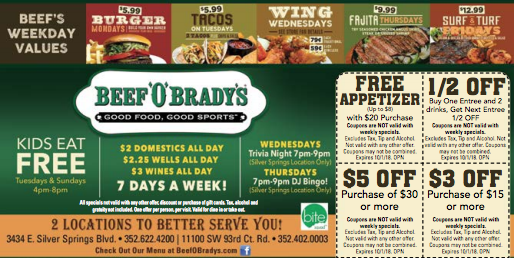Beef O Bradys Beef, Beef burger, Food coupon