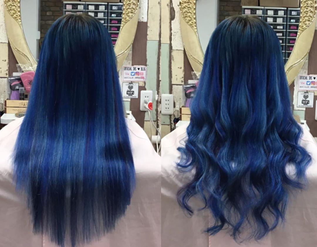 青紫の原色スタイル 地毛が暗めの青紫だったので エクステもそれに合わせて付けさせて もらいましたっ 艸 ふふ 出来上がりがすんごく綺麗でテンション 上がりましたぁ いつもありがとうございます またのご来店お待ちしてますっ Ww ノ 池袋 西口