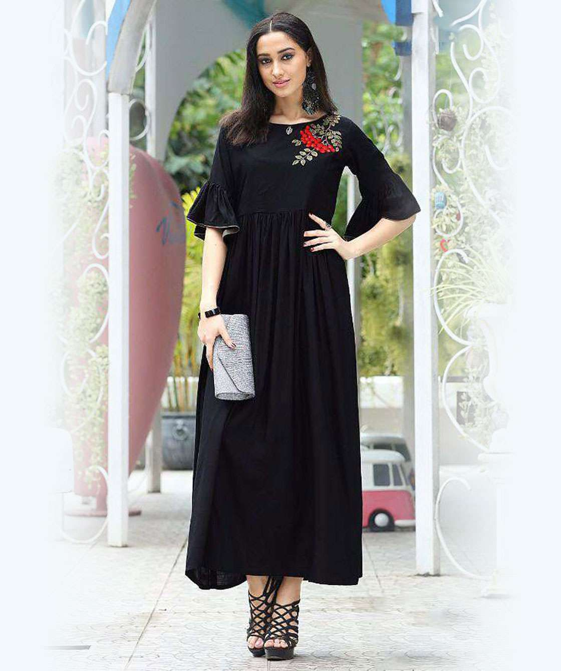 f96d0d680627d Printed Kurtis Wholesale Formal Wear