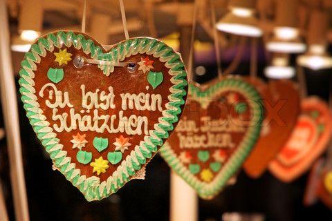 Image of 'Traditional German handmade gingerbread heart used