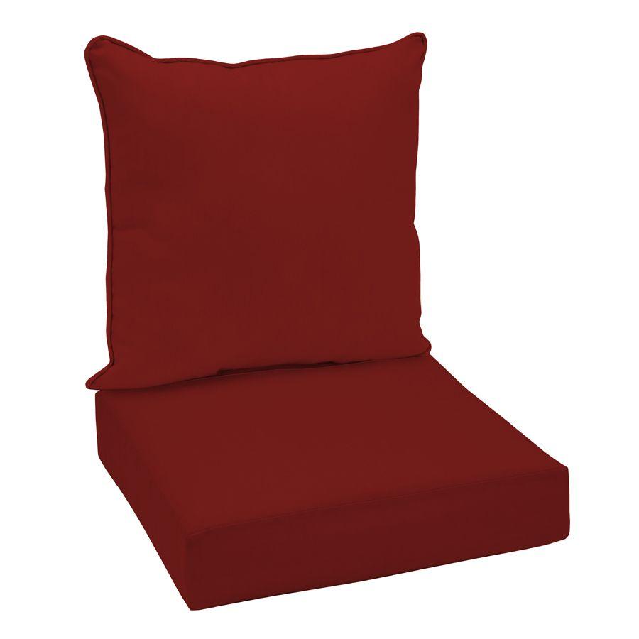 Palette 24 98 Garden Treasures Red Glenlee Red Solid Cushion For