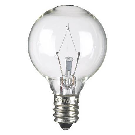 25 Watt G 11 Krypton Clear Candelabra Base Light Bulb 68601 Lamps Plus Bulb Light Bulb Globe Light Bulbs