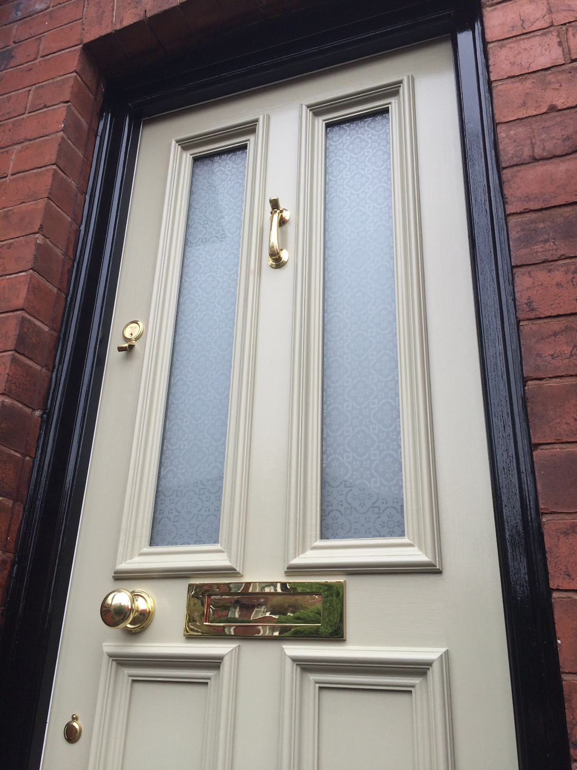 Traditional wooden Grand Victorian front door with \'Canterbury ...