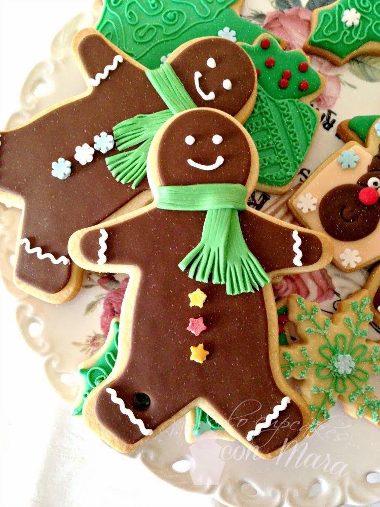 Galletas Navideñas Decoradas Con Glasa Y Fondant Panaderia