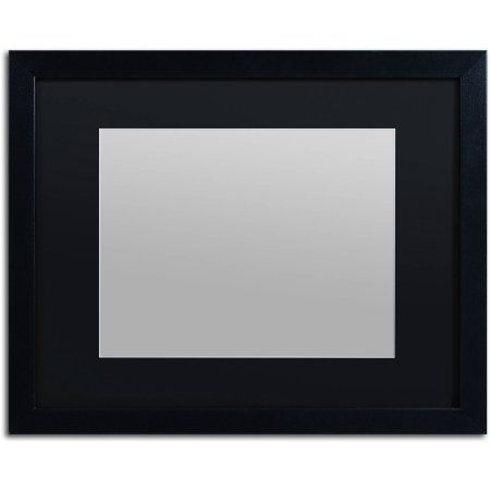 Trademark Fine Art Heavy Duty 16x20 Black Picture Frame With 11x14
