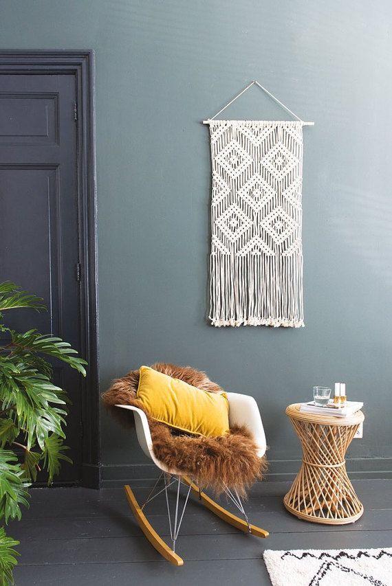 Makramee Wand hängen / geometrische Wandkunst / Wandteppich / MYRA #aztec