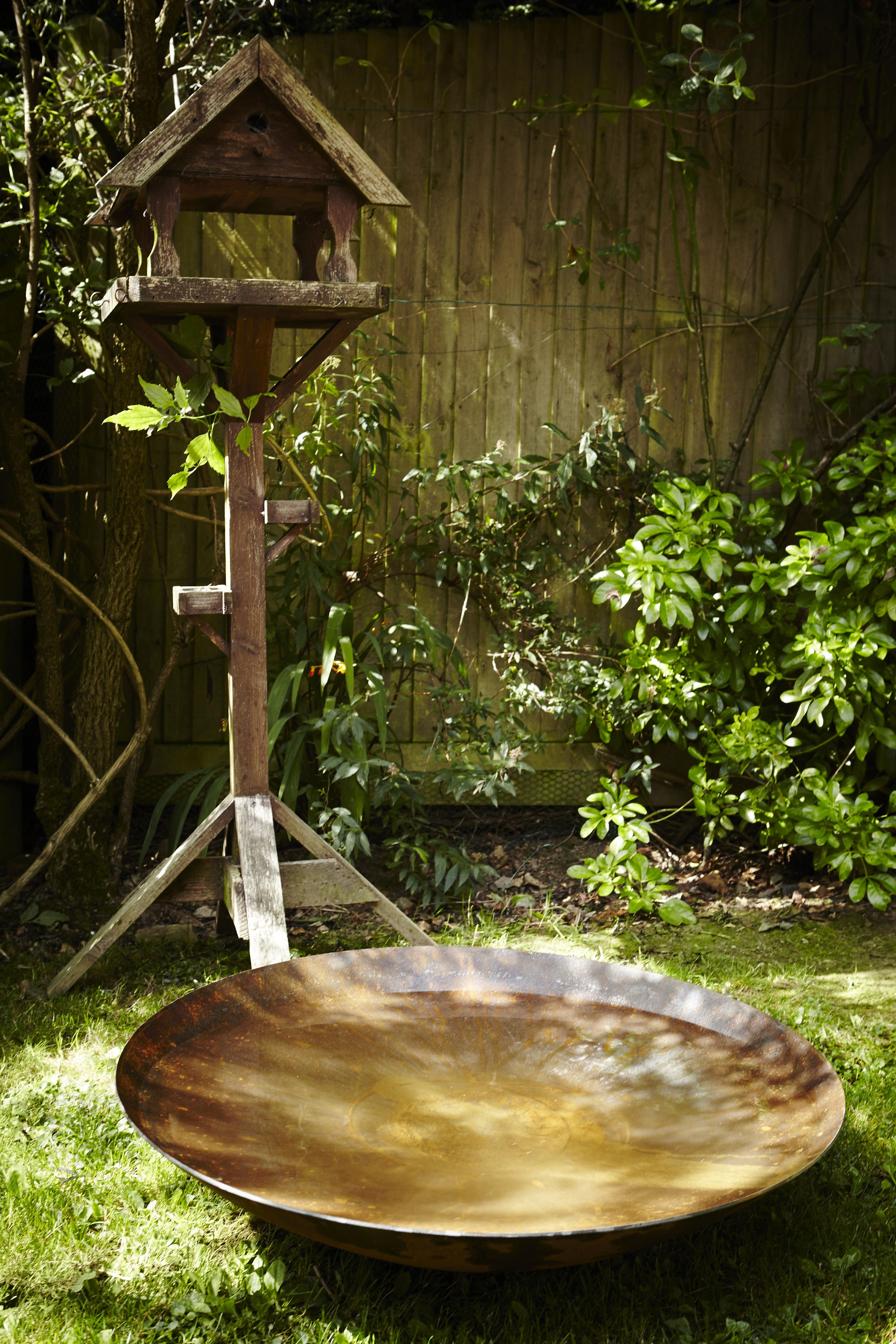 Water Bowl Water Feature Adezz Corten Steel Rust Modern