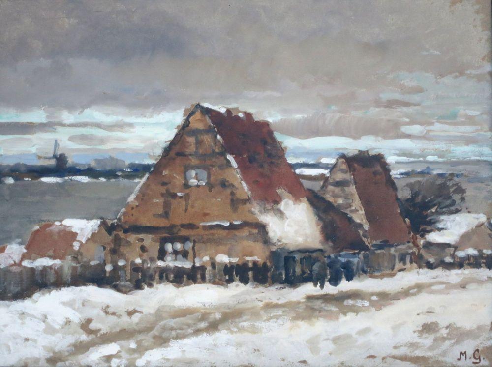 """Giese, Max (1867 Düsseldorf 1916 München) """"Alte Häuser"""