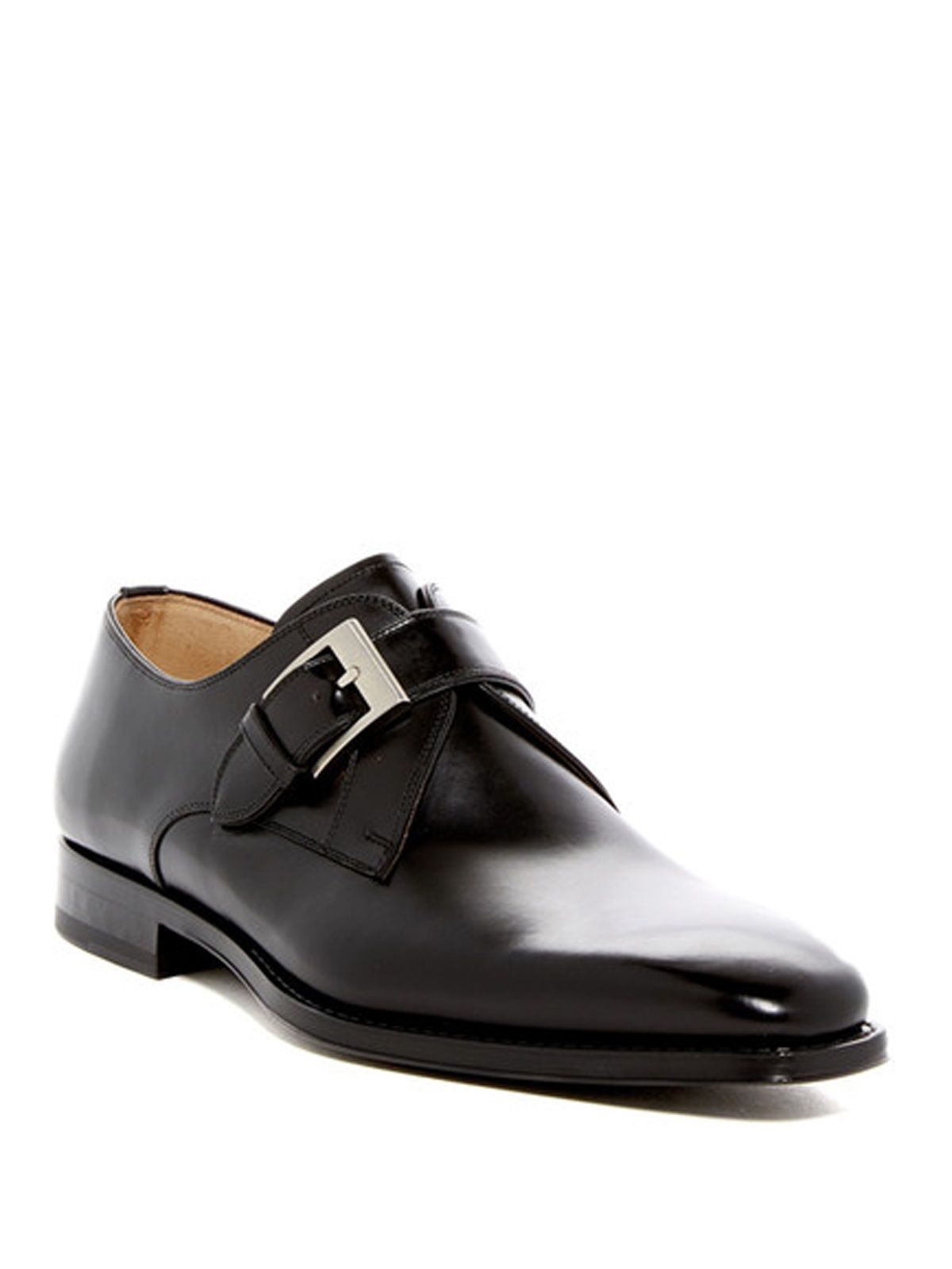 MAGNNANI Tudanca Marco Men's Single Monk Strap Leather Shoes Size: 7.5 MSRP $325