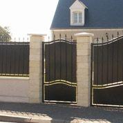 Portail Battant Fer Tangara Noir H 212 Cm H 212 Cm L 300 Cm Leroy Merlin Portail Portes En Fer Portillon