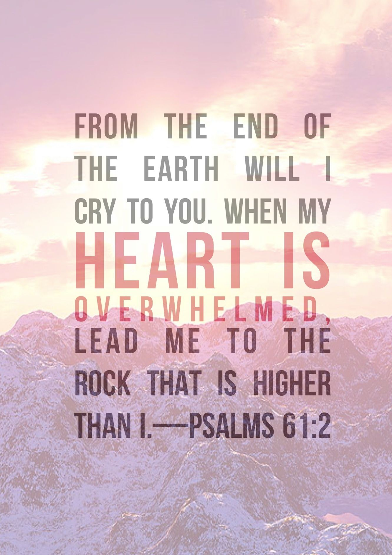 Lead me to the ROCK that is higher than I Follow us at