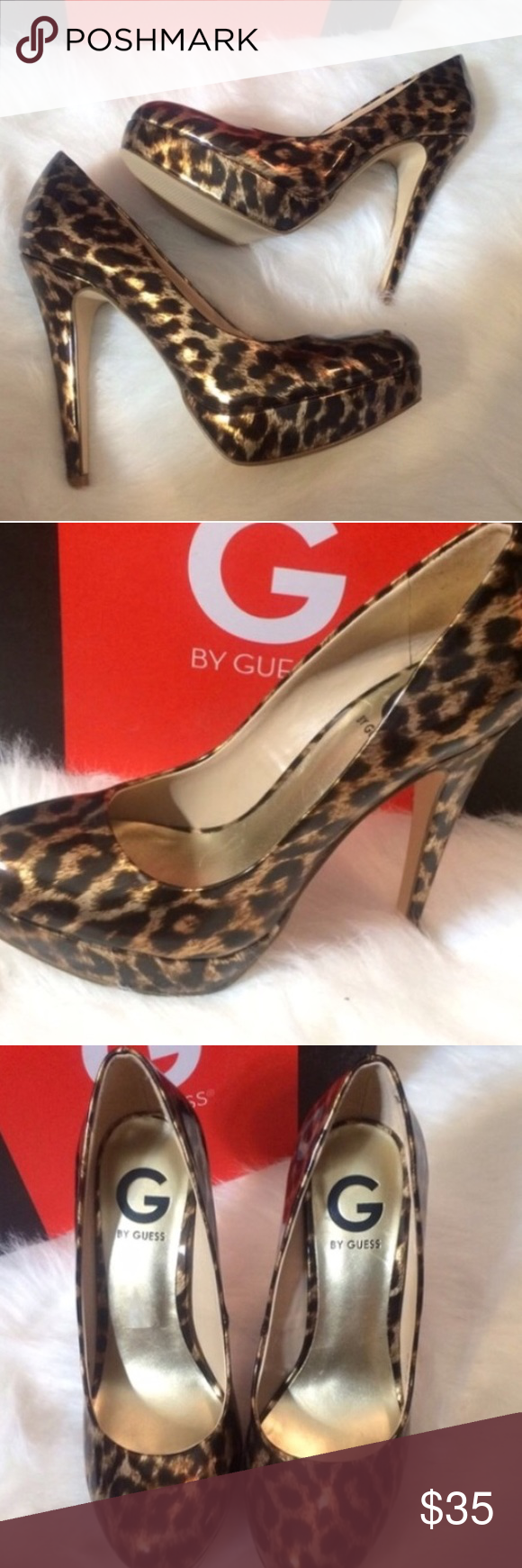 Guess animal print heels Brand new in box GUESS Shoes