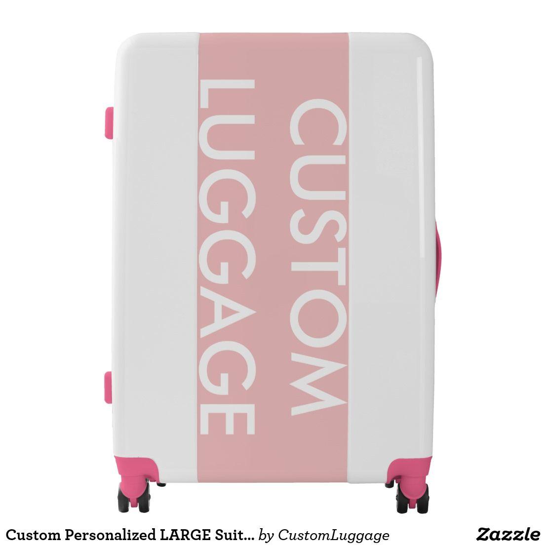 Custom Personalized LARGE Suitcase Luggage PINK | Large suitcase