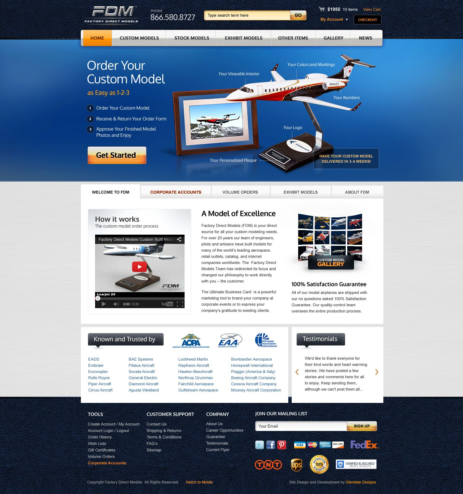 Factory Direct Models Home Page Mockup Approved Miva Merchant Ecommerce Design Customization Ecommerce Design Design Ecommerce
