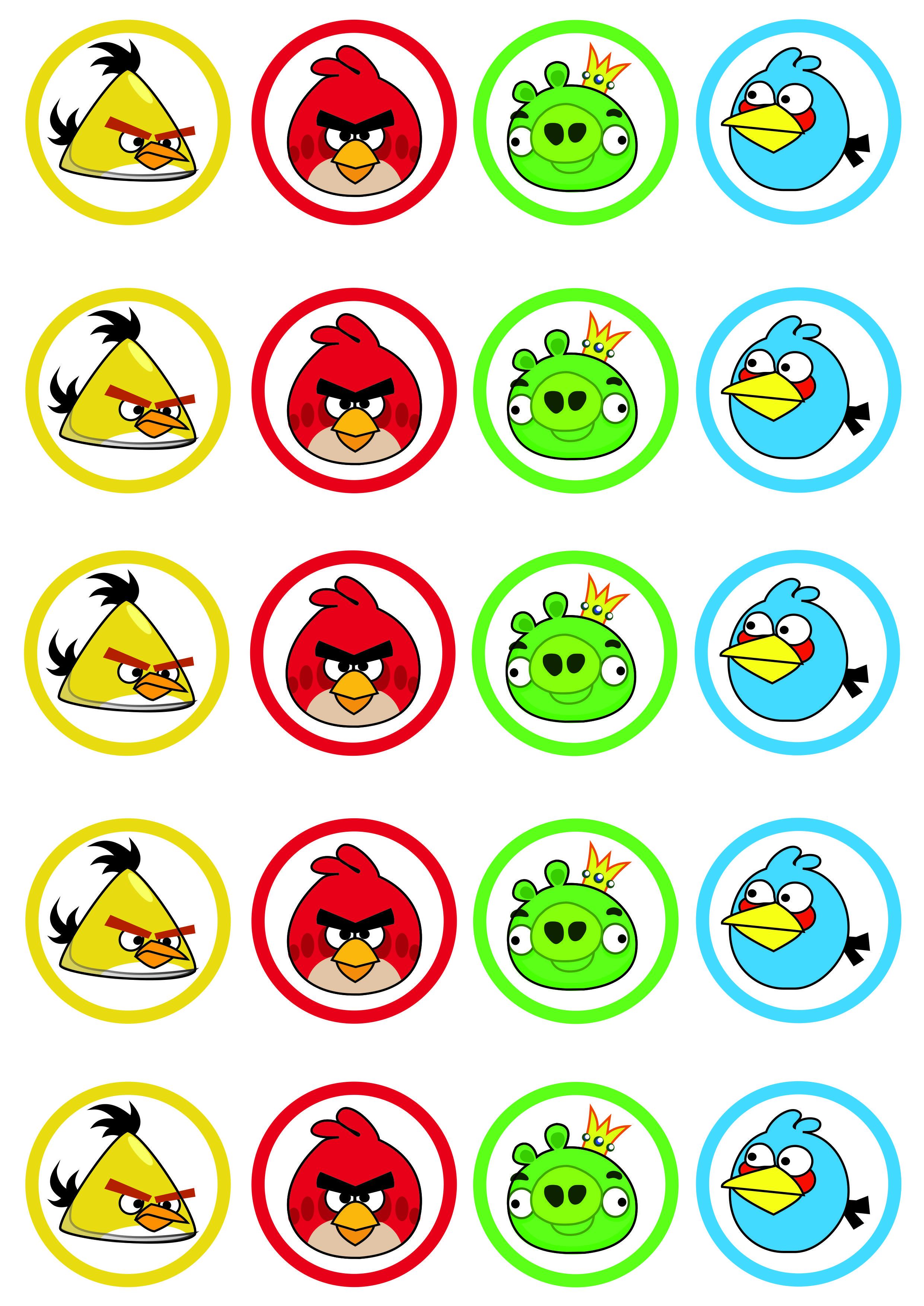 Toppers Imprimibles Angry Birds kids bday stuff – Angry Birds Party Invitations