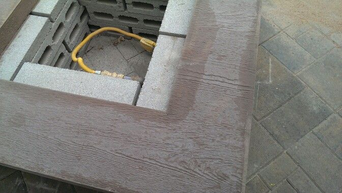 My wood grain concrete