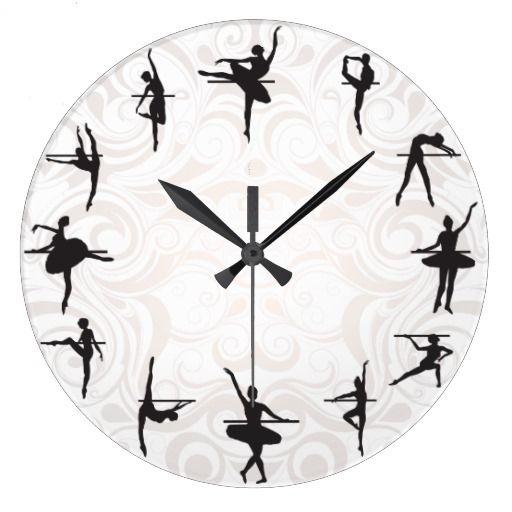 Ballet School Ballerina Dance Wall Clock Zazzle Com Wall Clock Clock Ballet Room