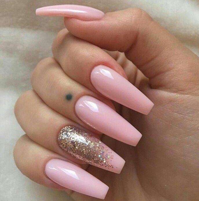 Pinterest Cyberbre Nails Ballerina Nails Pink Nails
