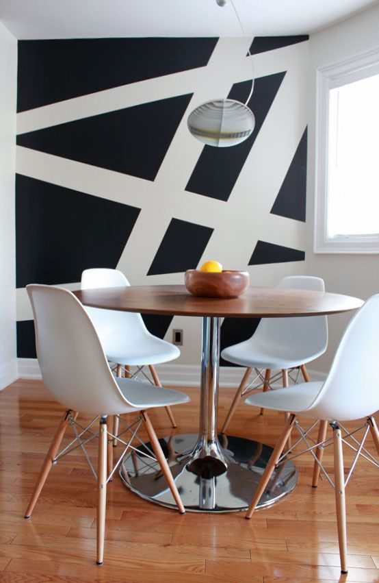 This Is A Dining Room With Diagonal Lines It Makes Me Feel Like Im