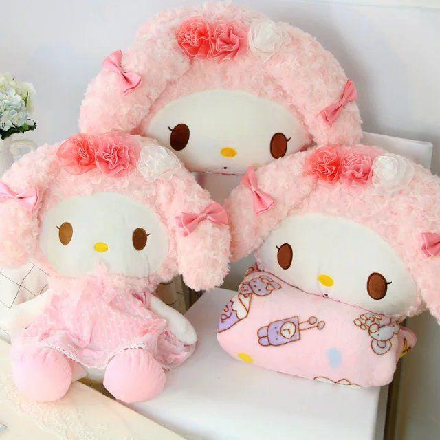 cute plush toy lovely pink my melody rabbit stuffed doll girl birthday gift 1pc