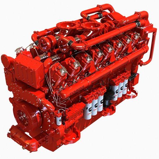 Cummins16 Cylinders Diesel Engine Swengines Diesel Engine Engineering Diesel Generators