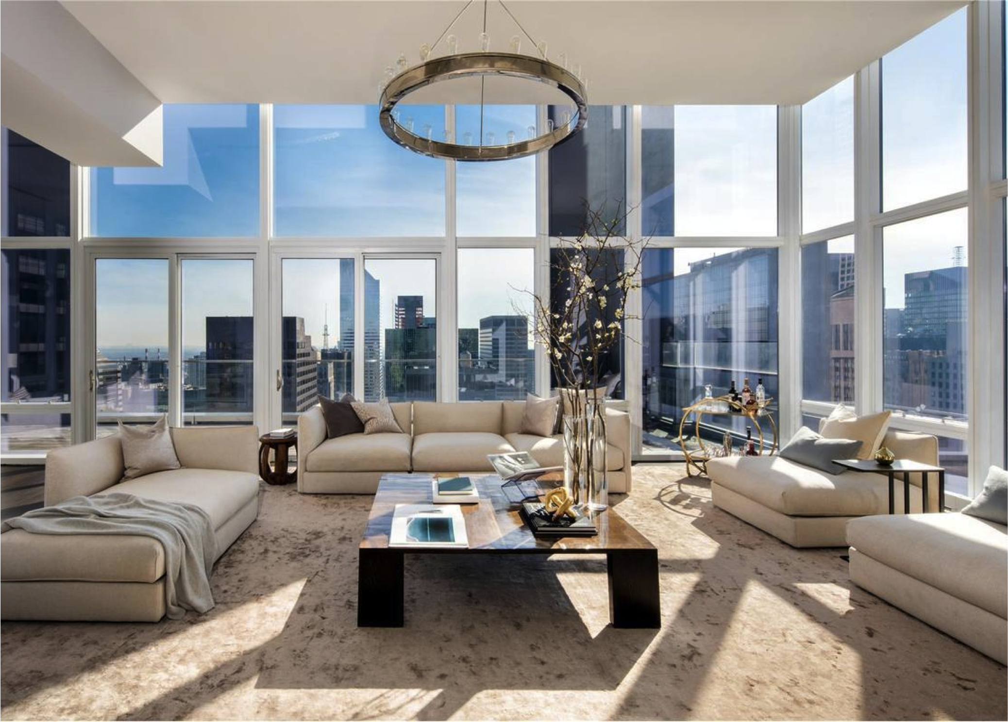 Interior Marketing Group | Penthouse Living Room | City ...