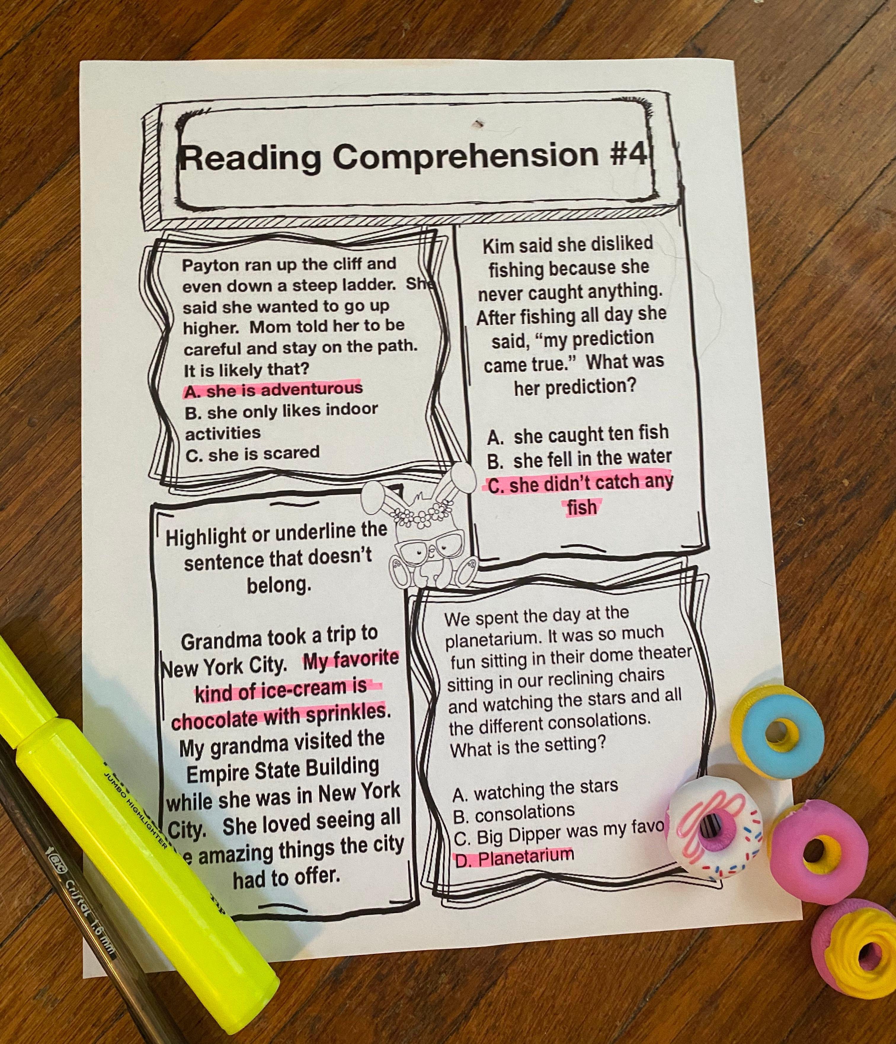 Comprehension Crunch In